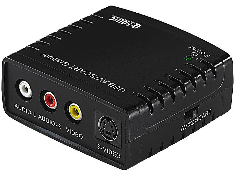 Q-Sonic VHS Digitalisierer: USB-Video-Grabber VG-310 zum Video-Digitalisieren (Video Converter)