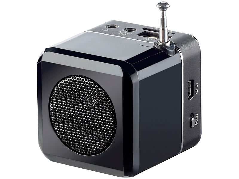 "auvisio Mini-MP3-Station ""MPS-550.cube"" mit integriertem ..."