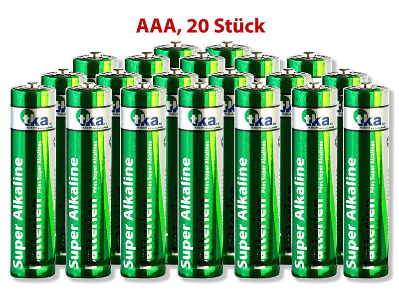 tka performance batterie super alkaline batterien micro 1 5v typ aaa 20 st ck batterie f r. Black Bedroom Furniture Sets. Home Design Ideas
