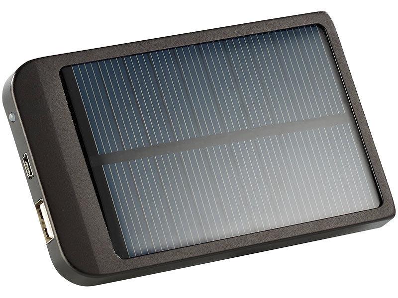 revolt solar powerbank mit 2000 mah f r iphone handy. Black Bedroom Furniture Sets. Home Design Ideas