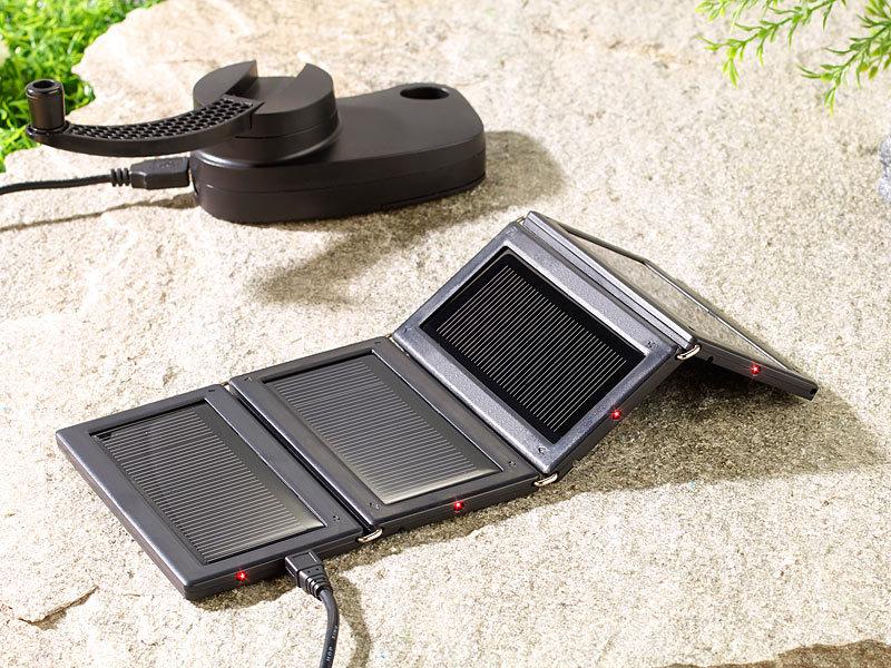 revolt mini solarzellen faltbares mini solarpanel mit 4. Black Bedroom Furniture Sets. Home Design Ideas