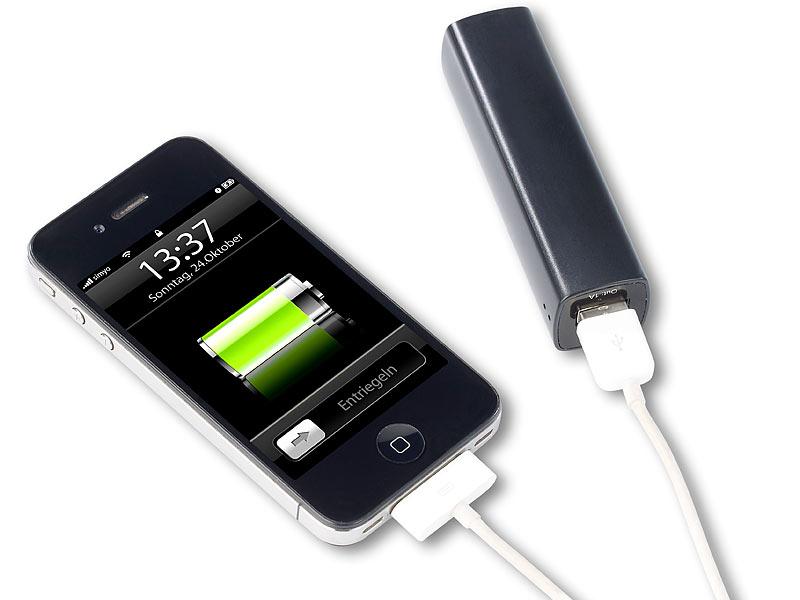 pearl powerbank f r iphone handy usb ger te schwarz 2. Black Bedroom Furniture Sets. Home Design Ideas