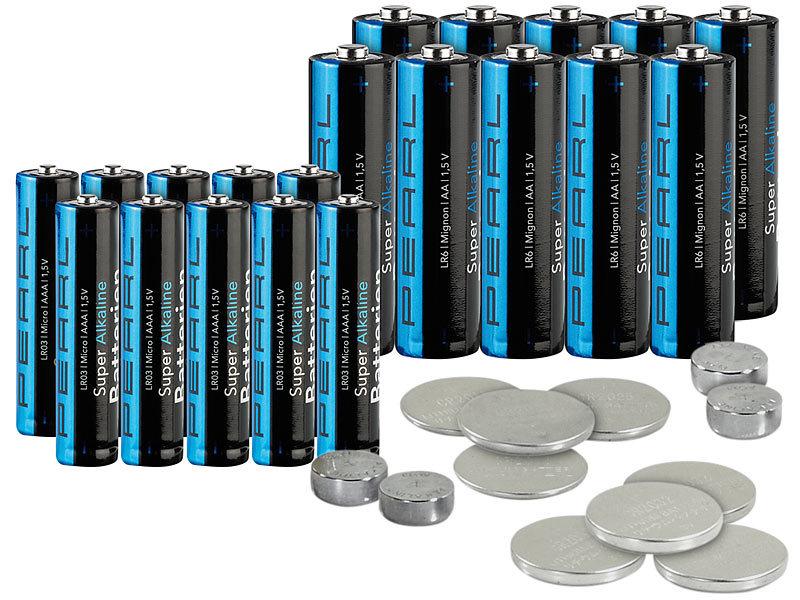 pearl uhrenbatterien set batterie set 32 teilig mit. Black Bedroom Furniture Sets. Home Design Ideas
