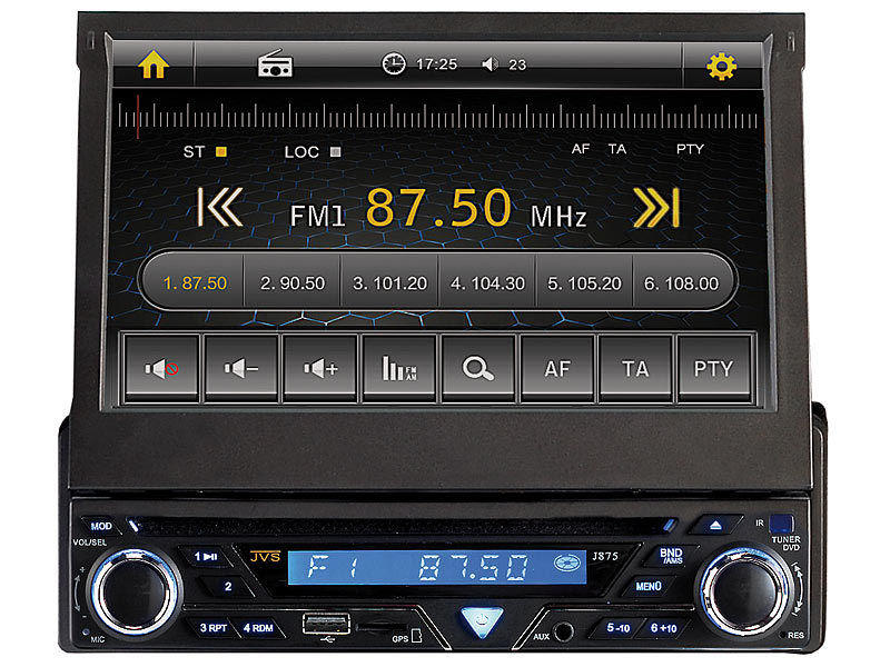 creasono 7 touchscreen dvd autoradio mit navigation d a ch. Black Bedroom Furniture Sets. Home Design Ideas