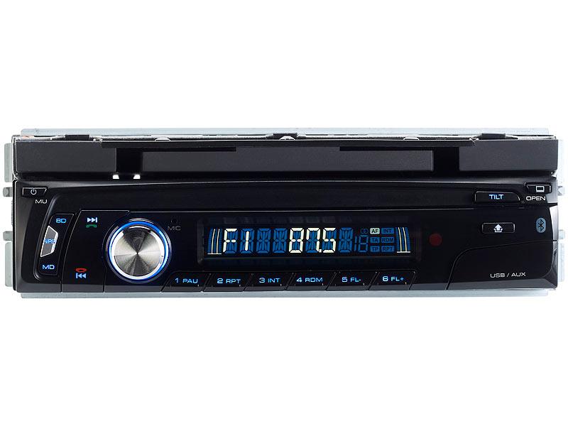 Creasono Autoradio DIN 1 Car HiFi 7 Autoradio CAS-4500tab mit Bluetooth /& Tablet-Halterung bis 17,8cm