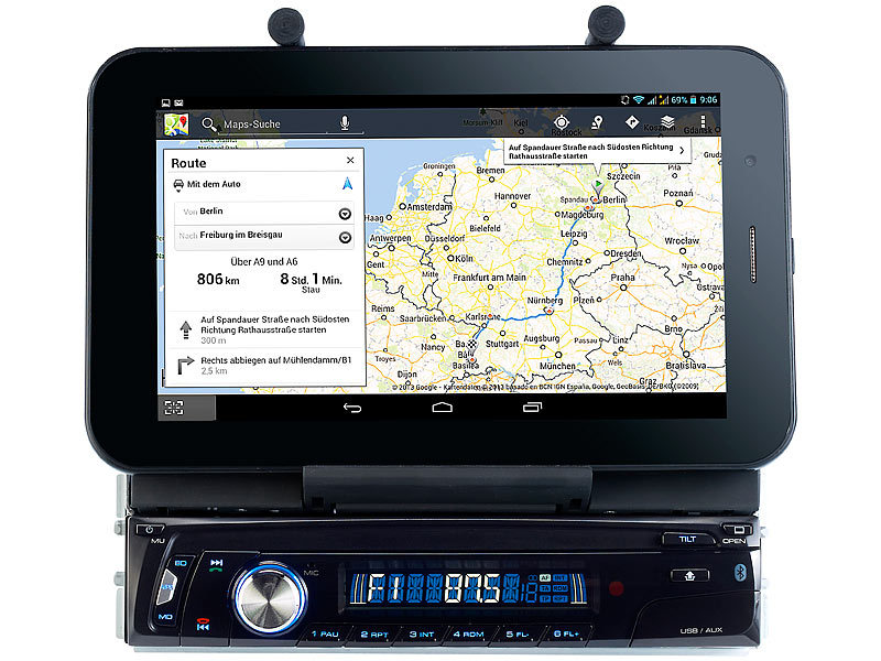 "Bluetooth-Autoradio mit 7"" Tablet-Halterung CAS-4500tab"
