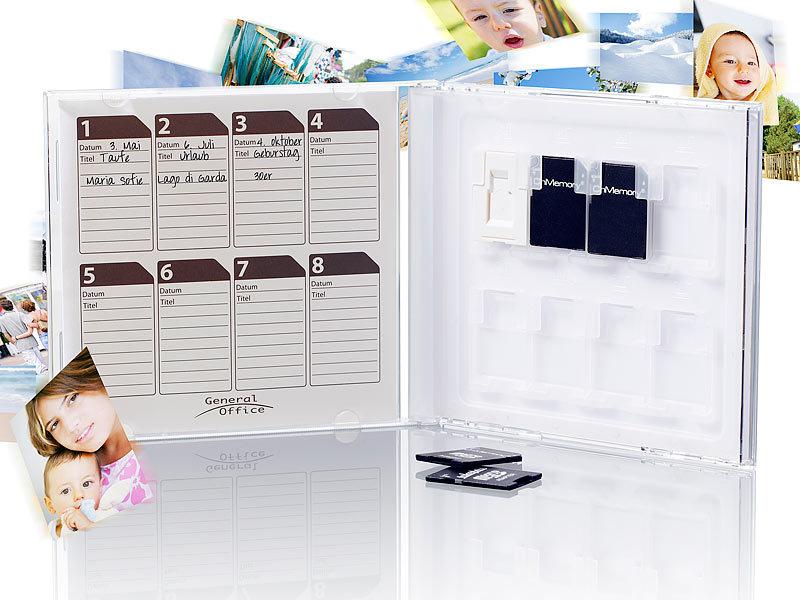 general office sd karten aufbewahrung sd karten album in cd h lle f r 8 st ck speicherkarten. Black Bedroom Furniture Sets. Home Design Ideas