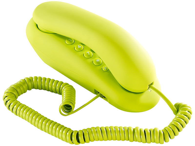 Kabelgebundenes Festnetz Telefon grün
