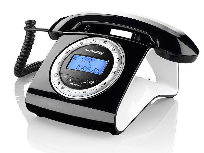 Simvalley communications schnurgebundenes retro for Telefongespr che aufzeichnen festnetz