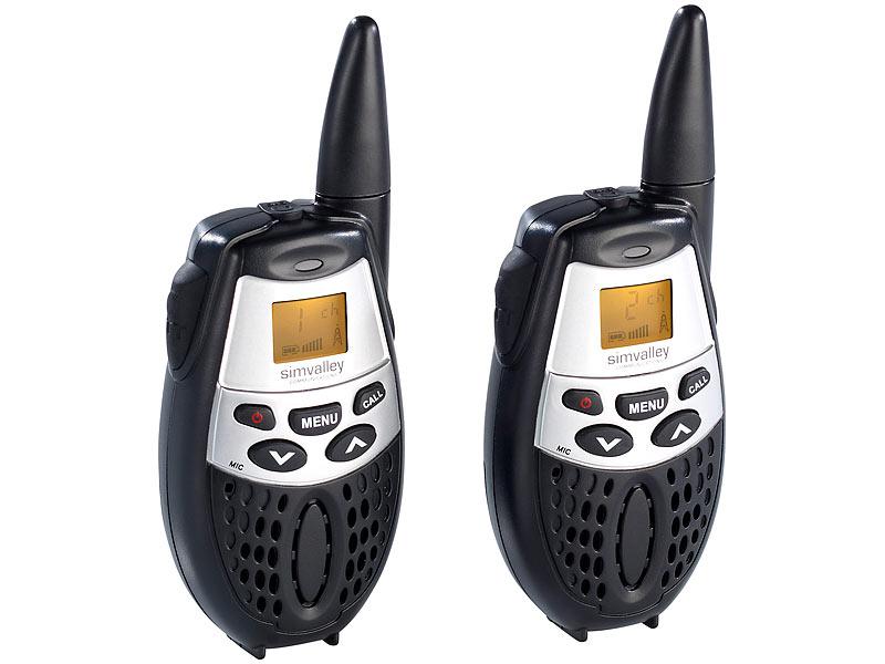 simvalley walkie talkie set wt 50 5 km reichweite. Black Bedroom Furniture Sets. Home Design Ideas