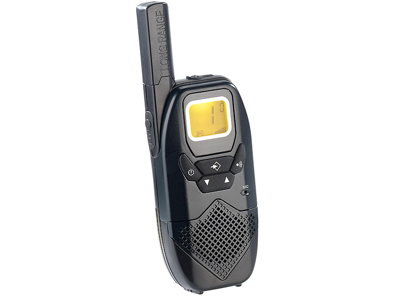 simvalley communications profi walkie talkie set wt 100 bis 10 km. Black Bedroom Furniture Sets. Home Design Ideas