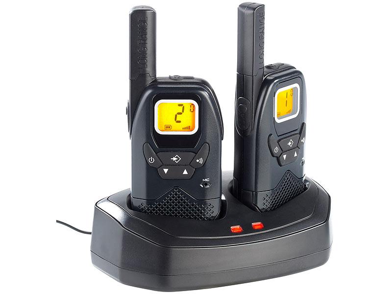 Simvalley funkgerät: profi walkie talkie set wt 100 bis 10 km
