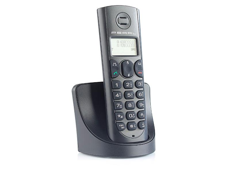 Pearl dect telefon schnurlos telefon strahlungsarm gap for Telefongespr che aufzeichnen festnetz