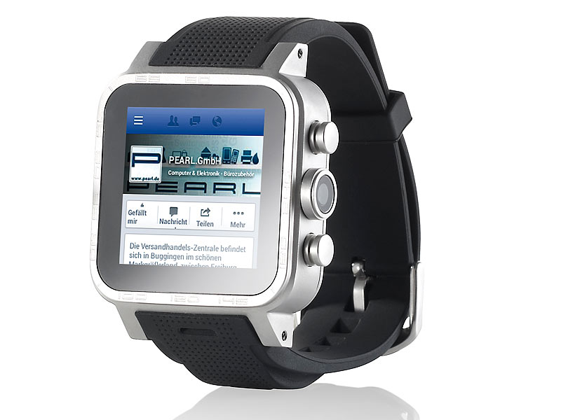simvalley mobile 1 5 smartwatch aw 421 rx 512mb ram alu. Black Bedroom Furniture Sets. Home Design Ideas