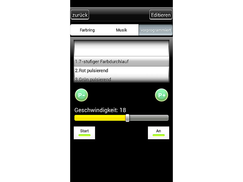 lunartec led farbwechsel leiste rgb led streifen lc 500n mit netzteil smartphone controller. Black Bedroom Furniture Sets. Home Design Ideas