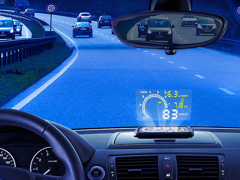 lescars obd head up display head up display hud 55c f r. Black Bedroom Furniture Sets. Home Design Ideas