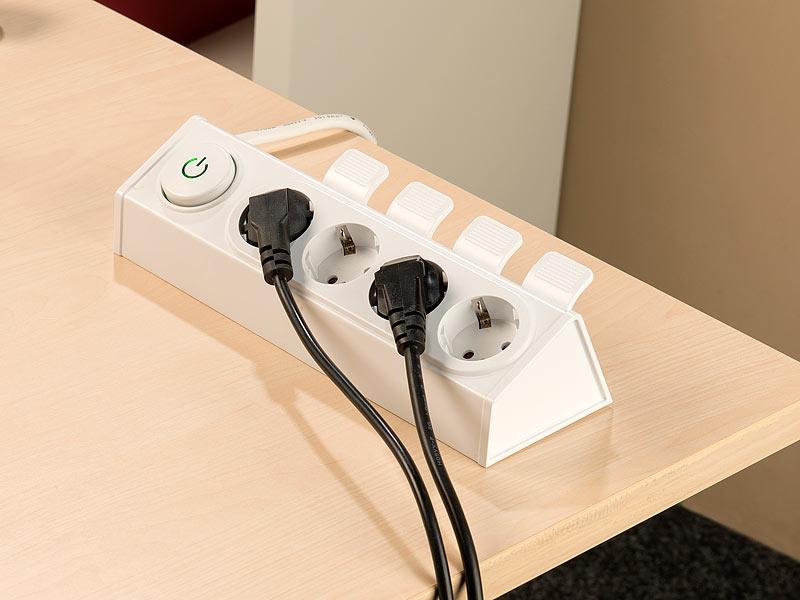 revolt 4 fach steckdosenleiste mit auswurfautomatik schaltbar. Black Bedroom Furniture Sets. Home Design Ideas