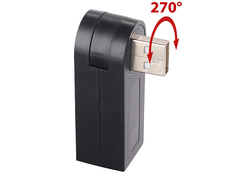xystec mehrfachstecker usb kompakter usb 2 0 hub mit 3 ports 270 drehbar usbverteiler. Black Bedroom Furniture Sets. Home Design Ideas