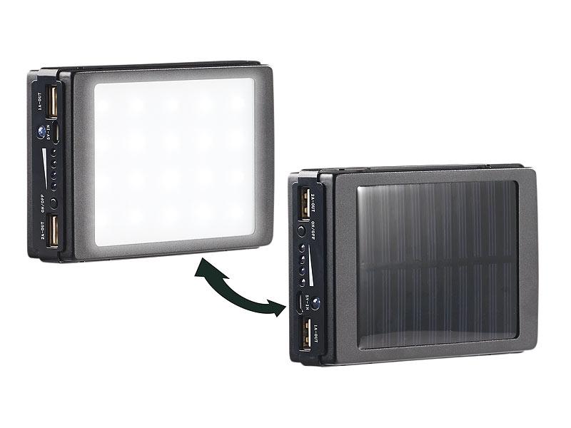 revolt solar campinglampe 2in1 solar powerbank mit campingleuchte mah 20 leds 240 lm. Black Bedroom Furniture Sets. Home Design Ideas