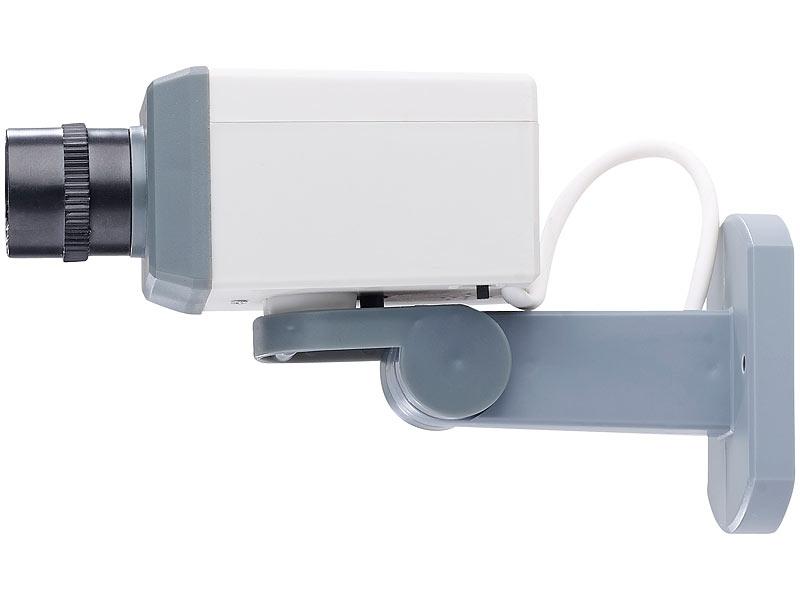 visortech berwachungskamera fake berwachungskamera attrappe mit motor bewegungssensor und. Black Bedroom Furniture Sets. Home Design Ideas