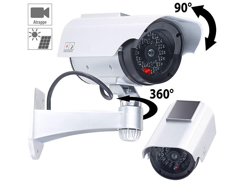 4Stück Domekamera Überwachungskamera-Attrappe Dummykamera mit LED