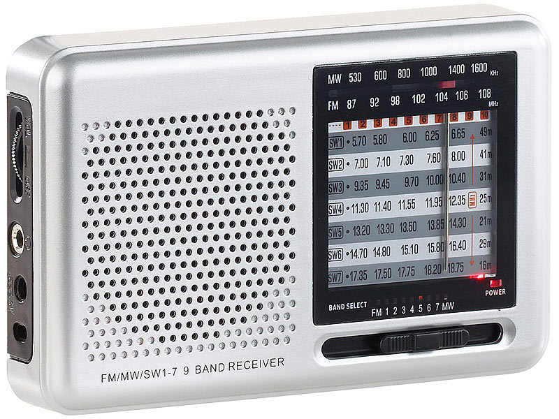 auvisio analog radio analoger 9 band weltempf nger mit fm. Black Bedroom Furniture Sets. Home Design Ideas