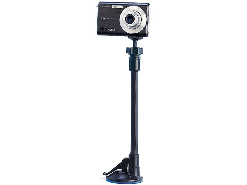 Lescars saugnapf stativ: flexibles 3d action kamera stativ mit
