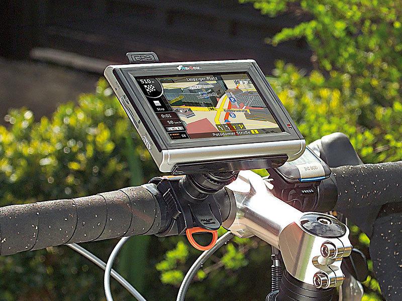 NavGear Navi Fahrradhalter: Fahrrad Halterung für Navigon