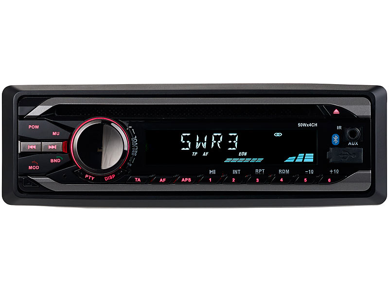 Creasono Autoradio DIN 1: MP3-Autoradio mit Bluetooth, CD-Player ...