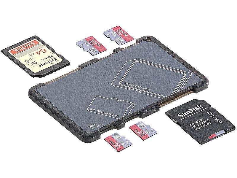 Speicherkarten Aufbewahrungs Box Etui Hülle für 8 SD /& 8 Micro-SD Karten Case