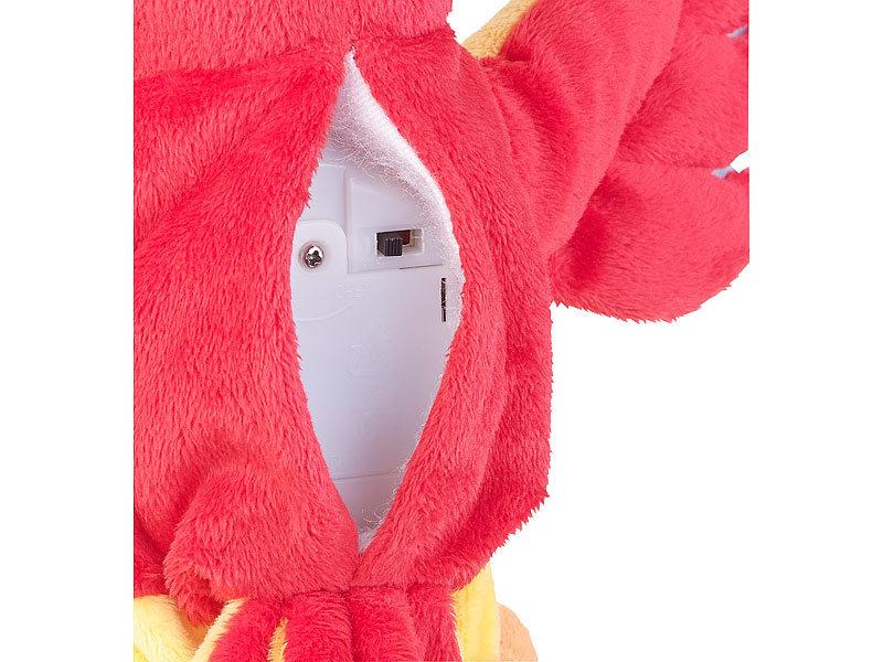 Playtastic spielzeug sprechender plüsch papagei mit