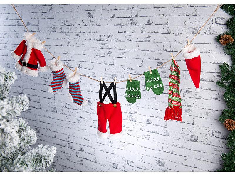infactory Girlande Stoff: Weihnachts-Deko-Girlande \