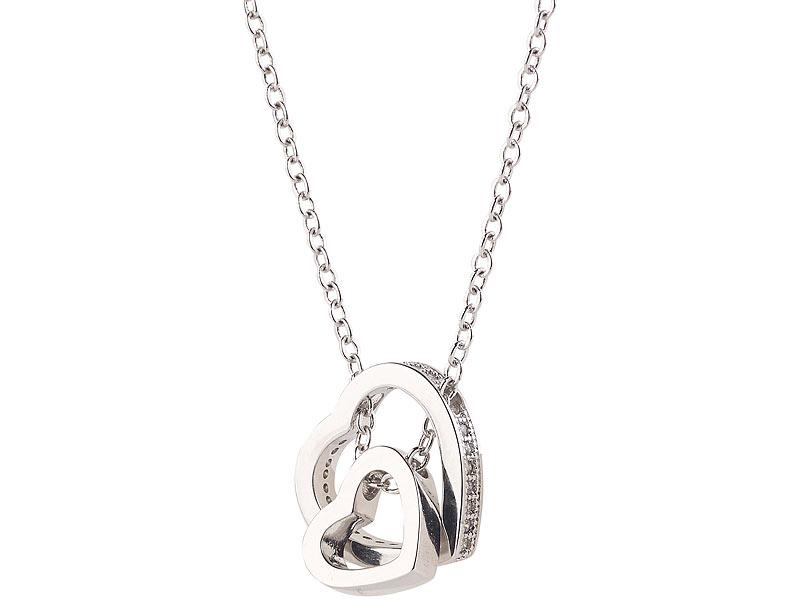 b9fe4ce6759e St. Leonhard Kette  Halskette mit Herz-in-Herz-Anhänger ...