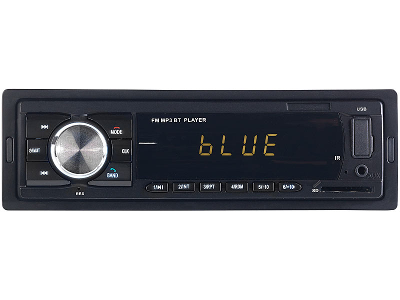PEARL Radio: MP3-Autoradio mit Bluetooth, Freisprech-Funktion, USB ...