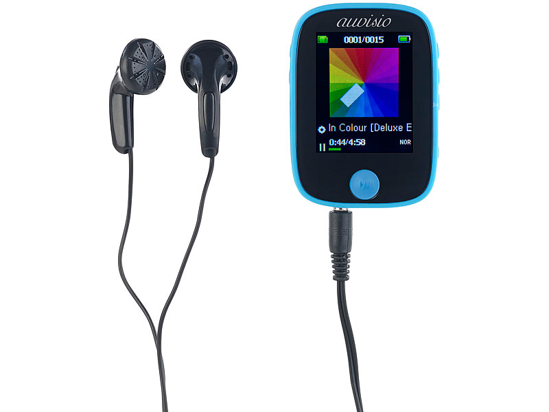 auvisio MP3 Player Bluetooth: Clip On Multimedia Player, 4,6