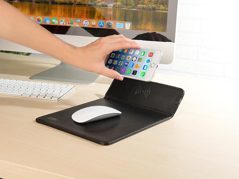 callstel qi ladestation iphone 8 mauspad mit induktions. Black Bedroom Furniture Sets. Home Design Ideas