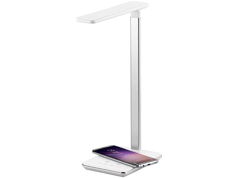 lunartec tageslichtlampe schreibtisch lampe qi kompatibel 4 lichtfarben 800 lumen dimmbar. Black Bedroom Furniture Sets. Home Design Ideas