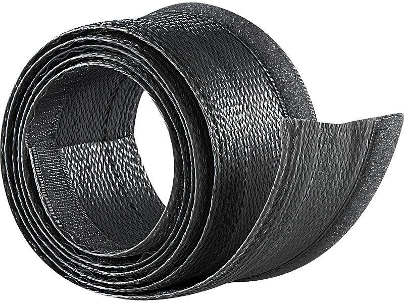 Kabelkanal: Flexibler schwarzer 1,8m Kabelschlauch mit praktischem ...