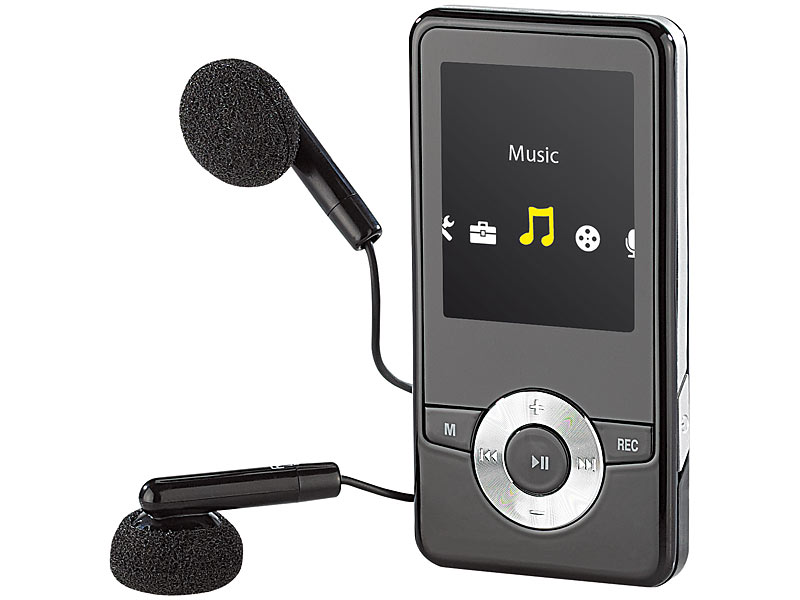 auvisio mp3 video player dmp 320 m mit ukw radio. Black Bedroom Furniture Sets. Home Design Ideas