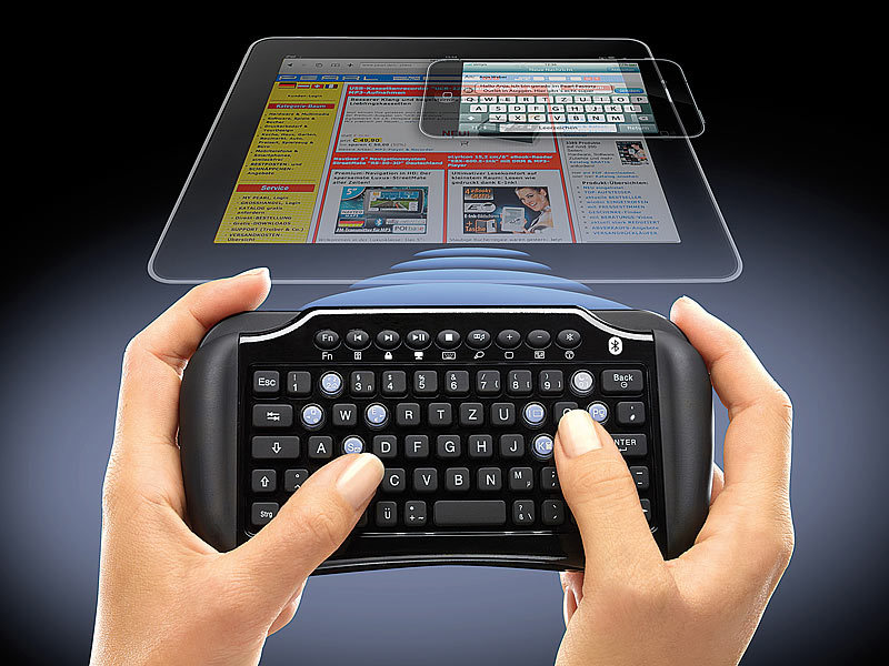 generalkeys mini tastatur qwertz mit bluetooth touchpad. Black Bedroom Furniture Sets. Home Design Ideas