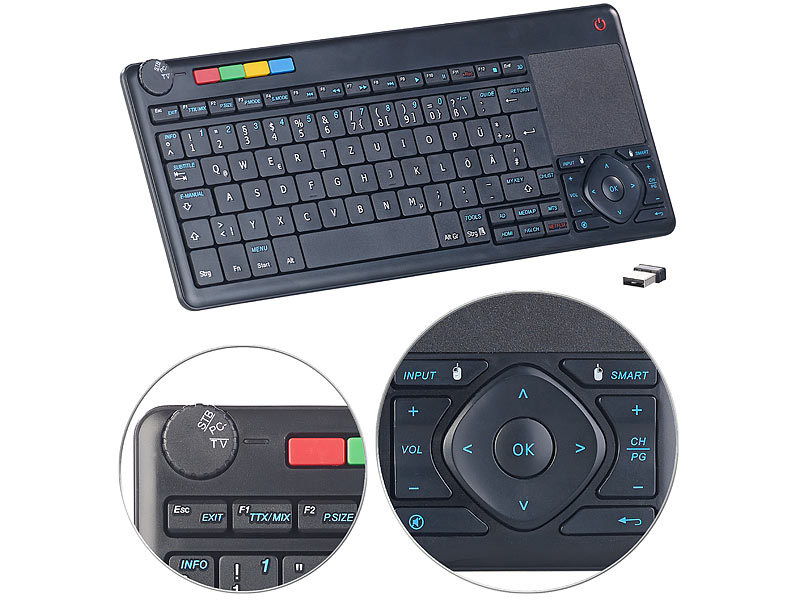generalkeys touchpad lernf hige multimedia funk tastatur. Black Bedroom Furniture Sets. Home Design Ideas
