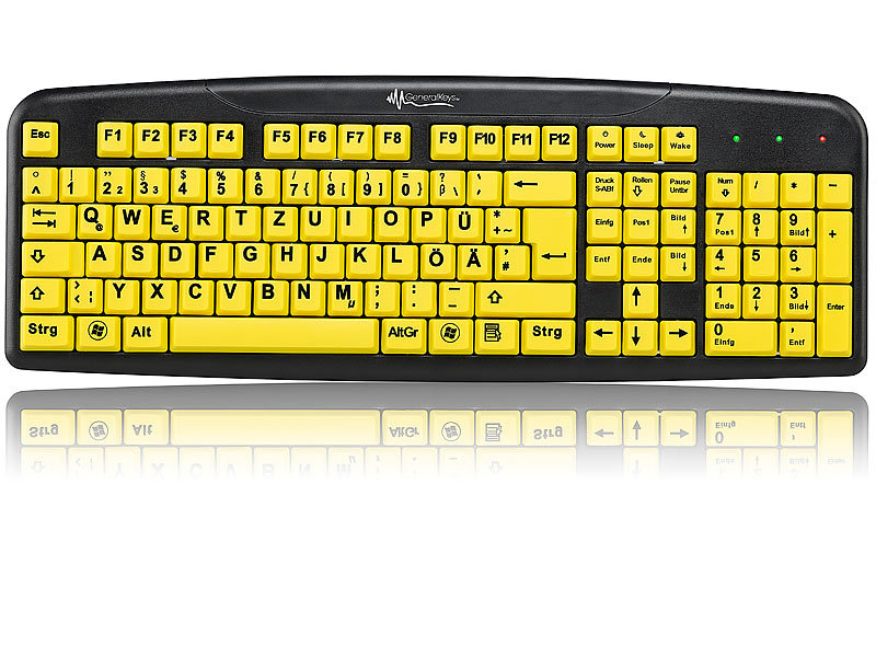generalkeys tastatur gro e tasten komfort tastatur mit. Black Bedroom Furniture Sets. Home Design Ideas