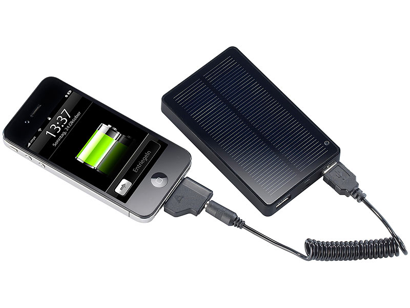 revolt solar powerbank mit f r ipad iphone navi. Black Bedroom Furniture Sets. Home Design Ideas