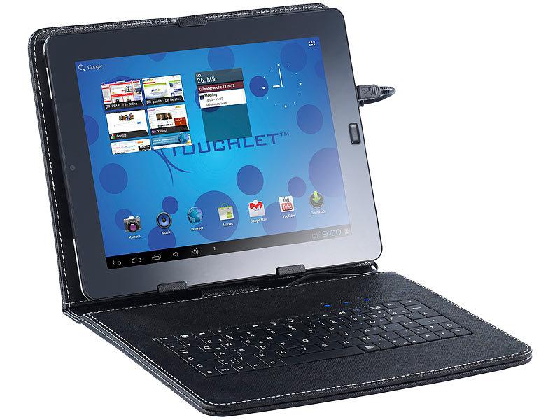 touchlet 2in1 schutztasche mit tastatur f r tablet pc x10. Black Bedroom Furniture Sets. Home Design Ideas