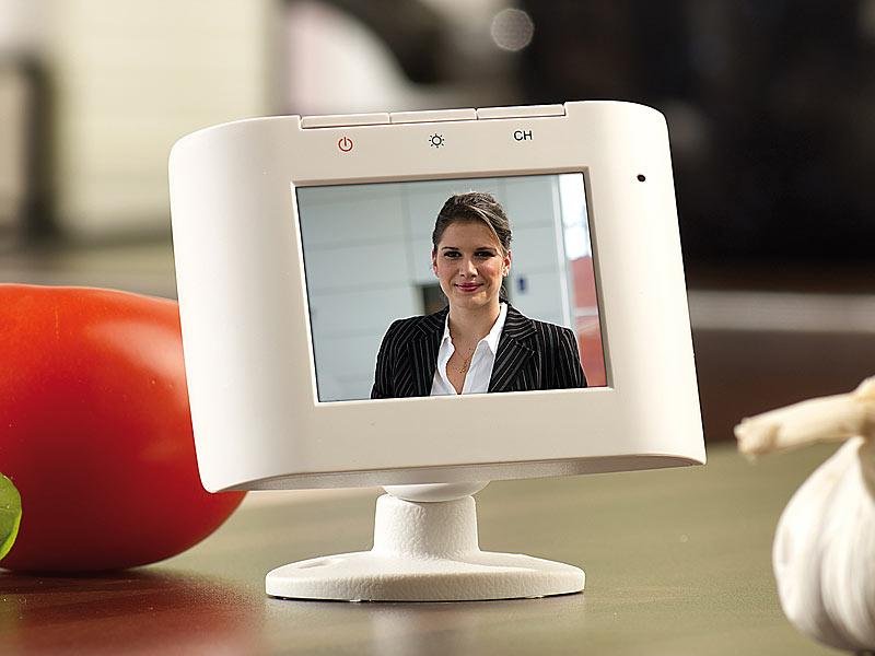 visortech funk video t rklingel 2 4 ghz m monitor security scan 500. Black Bedroom Furniture Sets. Home Design Ideas