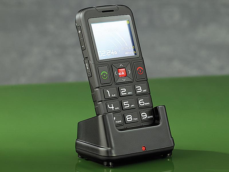 simvalley mobile notruf senioren handy ladestation f r komfort telefon xl 959 refurbished. Black Bedroom Furniture Sets. Home Design Ideas