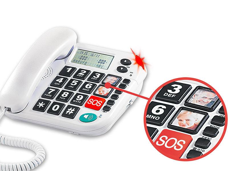 Notruf-Senioren-Telefon mit SOS-Taste Notfalltelefon refurbished