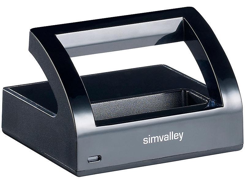 simvalley mobile simvalley mobile tisch ladestation f r komfort handy xl 901. Black Bedroom Furniture Sets. Home Design Ideas