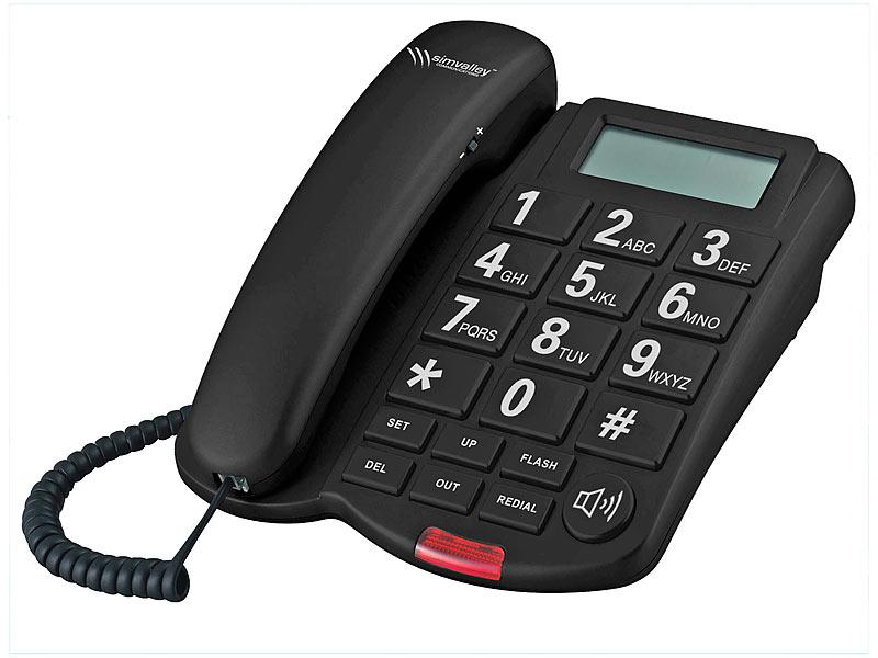 simvalley munications Großtasten Telefon XLF 40 schwarz