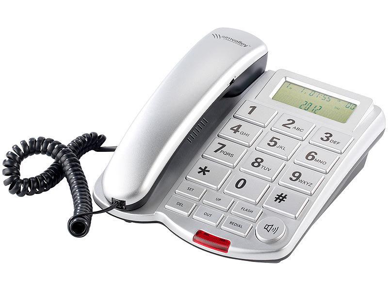 Simvalley communications grosstasten telefon xlf 40 silber for Telefongespr che aufzeichnen festnetz